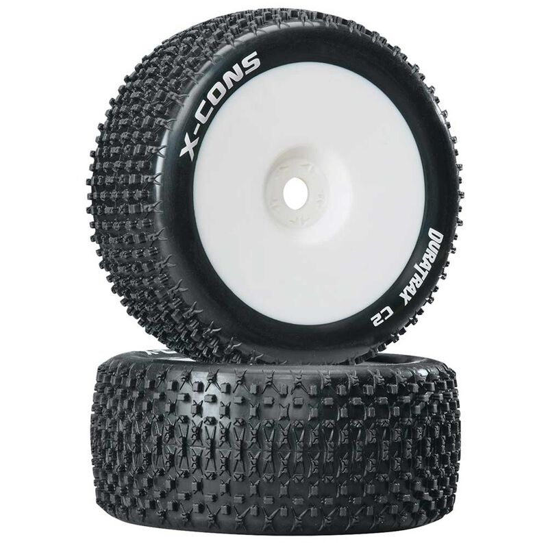X-Cons 1/8 Mounted C2 Truggy Tires (2)