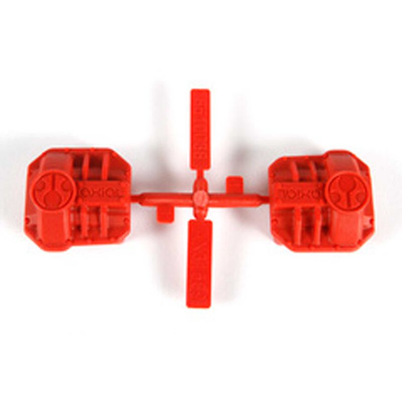 Differential Cover, Red: AR44 SCX10 II