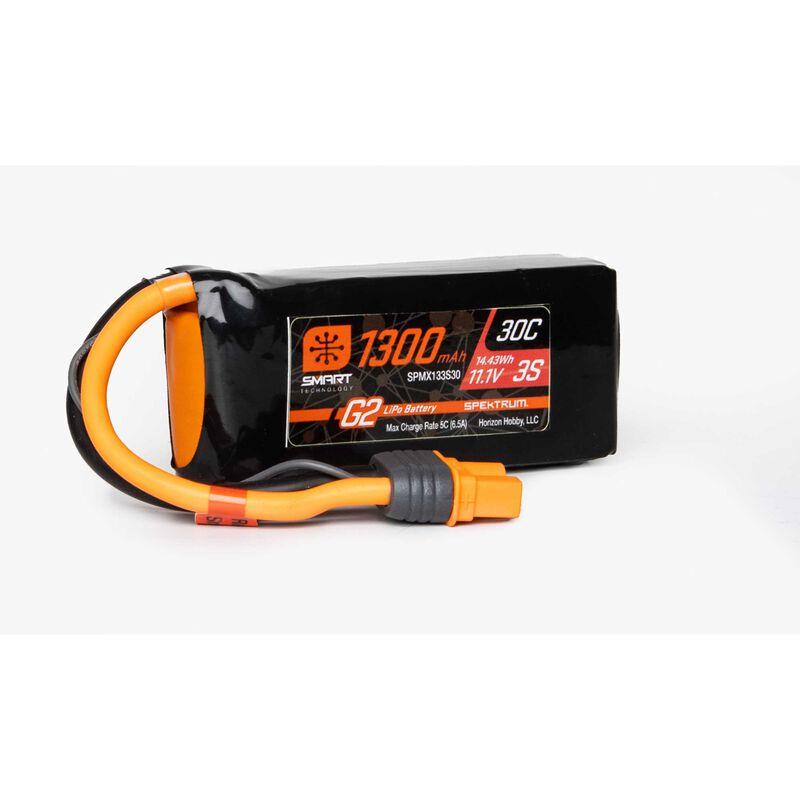 11.1V 1300mAh 3S 30C Smart LiPo G2: IC3