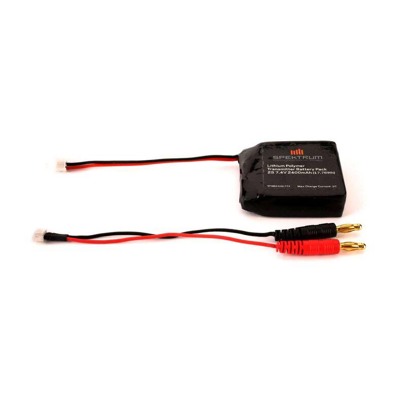 2400mAh LiPo Tx Battery: DX4S