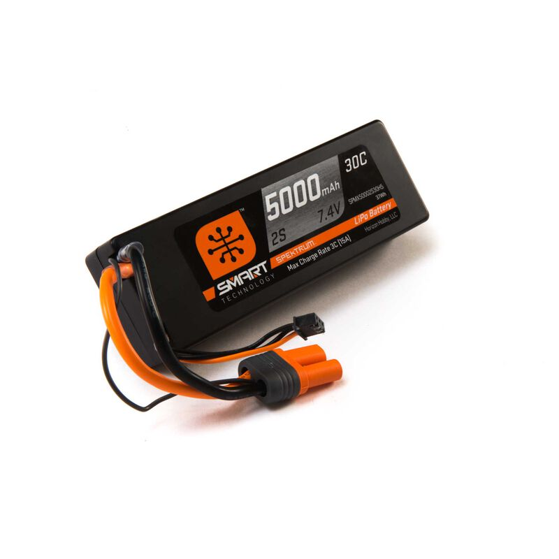 7.4V 5000mAh 2S 30C Smart Hardcase LiPo Battery: IC5