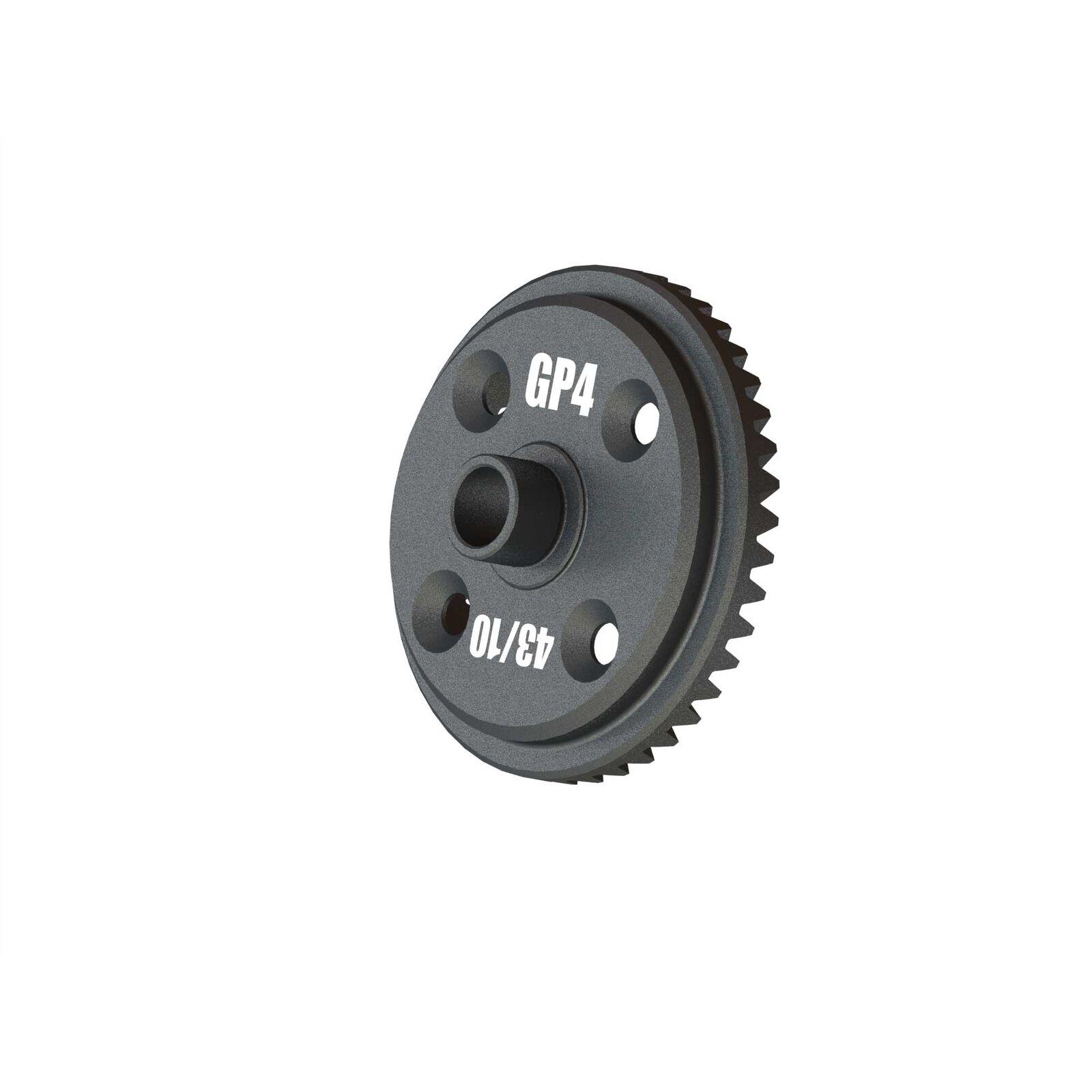Main Diff Gear, 43T Spiral GP4 5mm: EXB