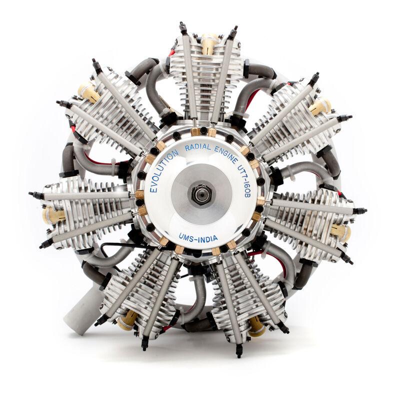 7-Cylinder 160cc 4-Stroke Gas Radial Engine