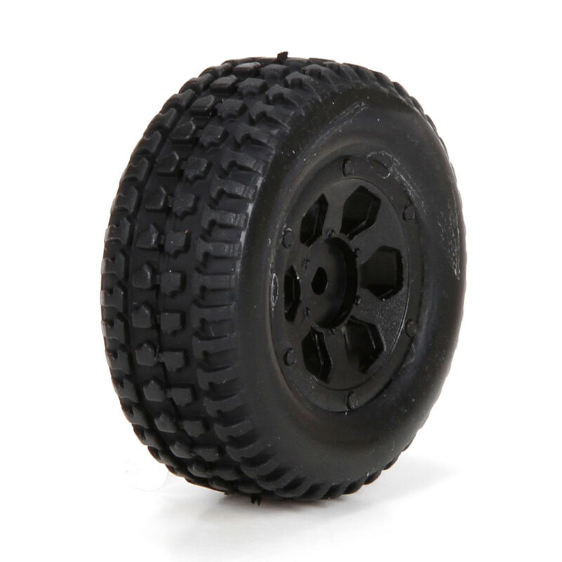 Front/Rear Premount Tire (2): 1/24 4WD Torment