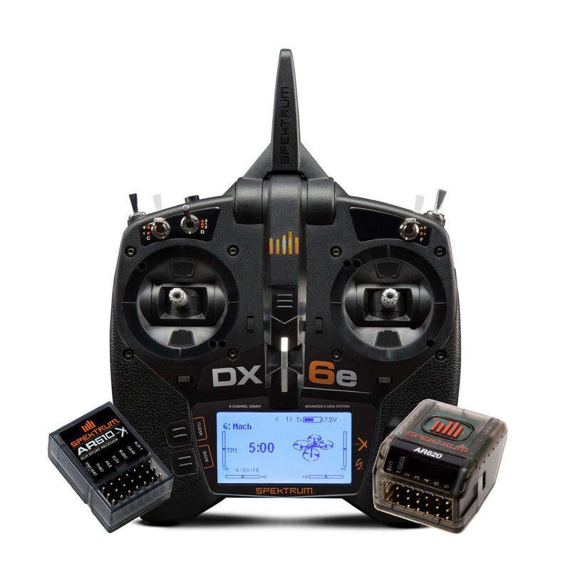 DX6e 6-Channel Radio System with AR620 + AR610