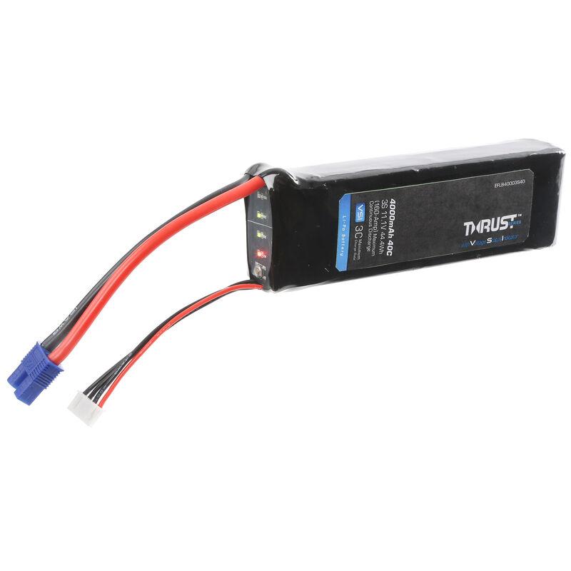 11.1V 4000mAh 3S 40C Thrust VSI LiPo Battery: EC3