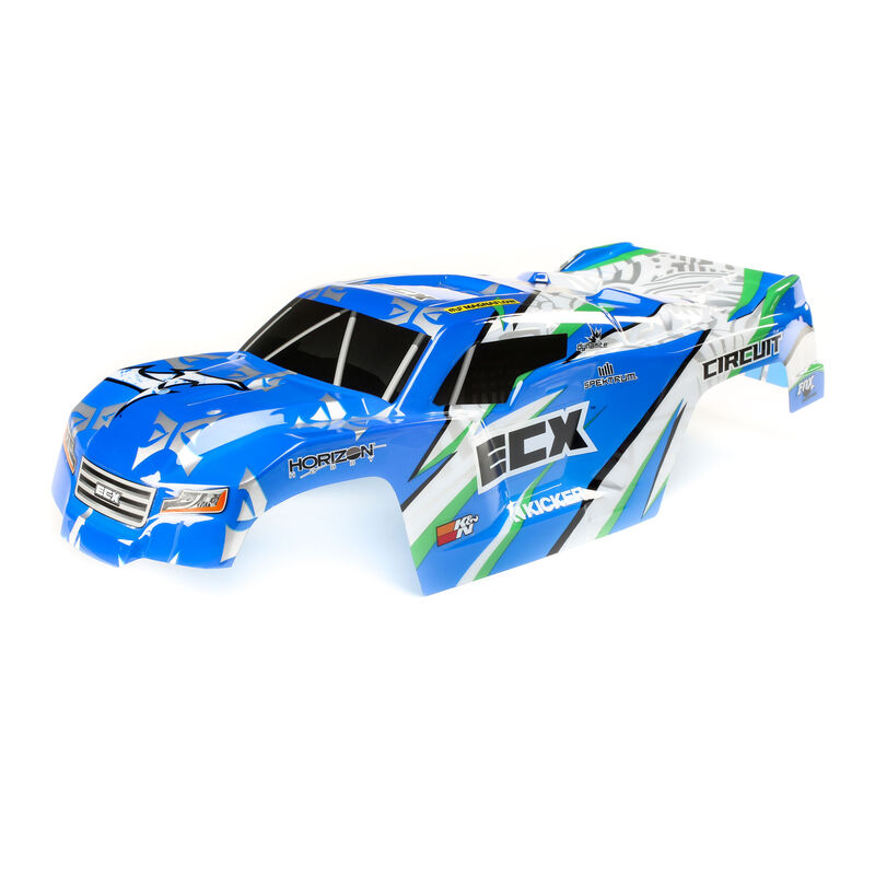 1/10 Painted Body, Blue/White: 2WD Circuit