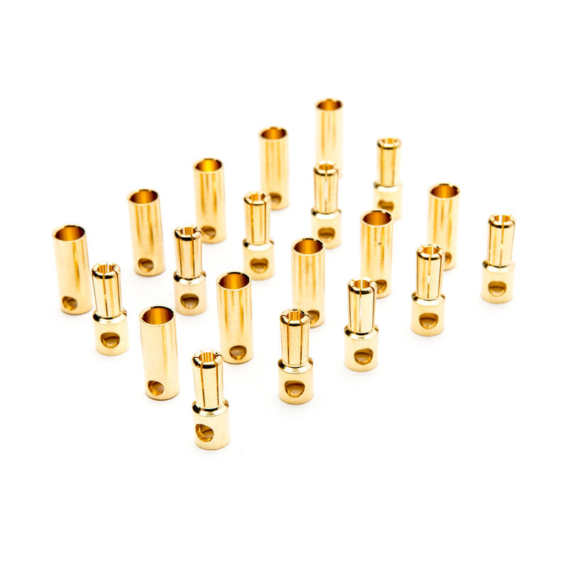 Connector: Gold Bullet Set, 5.5mm (10)