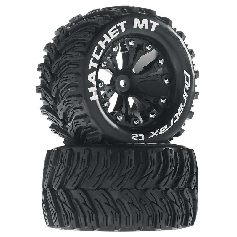 "Hatchet MT 2.8"" 2WD Mounted Rear Tires, Black (2)"