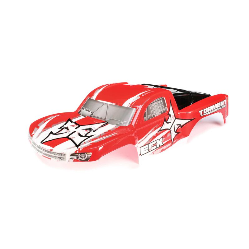 1/10 Painted Body, Red/White: 2WD and 4WD Torment