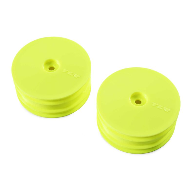 1/10 Front Buggy 2.2 Wheels, 12mm Hex, Yellow (2): 22X-4