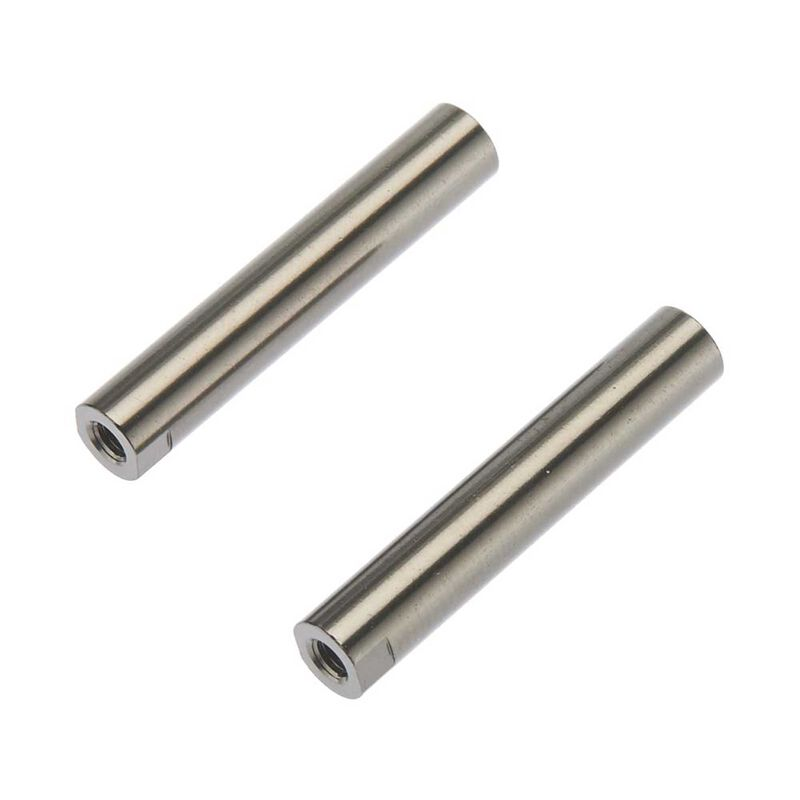 Threaded Aluminum Pipe 6x33mm Grey (2)