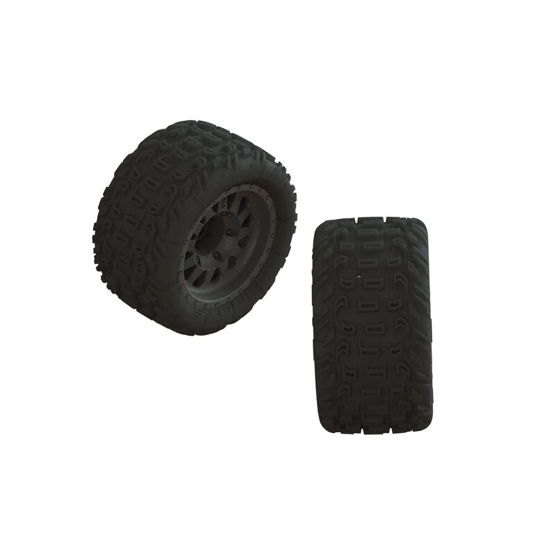 1/10 dBoots Katar MT Pre-Mounted Tire 14mm Hex (2)