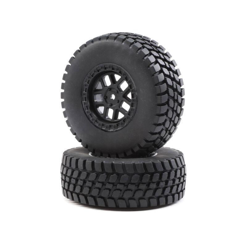 1/10 Alpine Front/Rear 2.2/3.0 Pre-Mounted Tires, 12mm Hex (2): Baja Rey