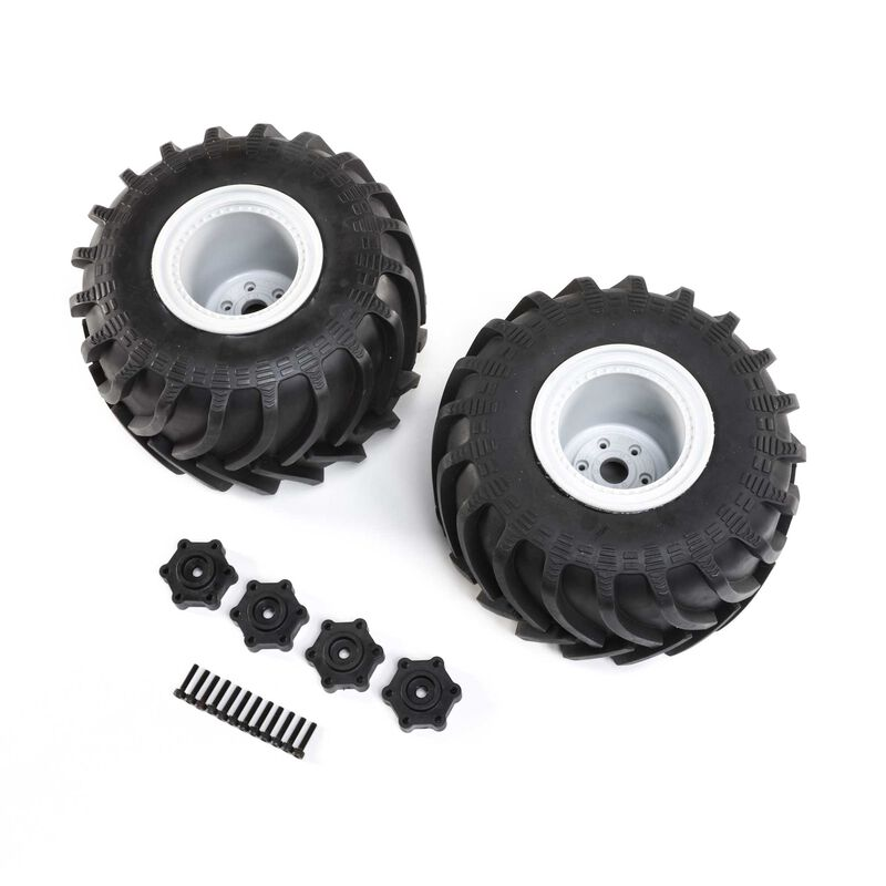 Mounted Monster Truck Tires, Left/Right: LMT