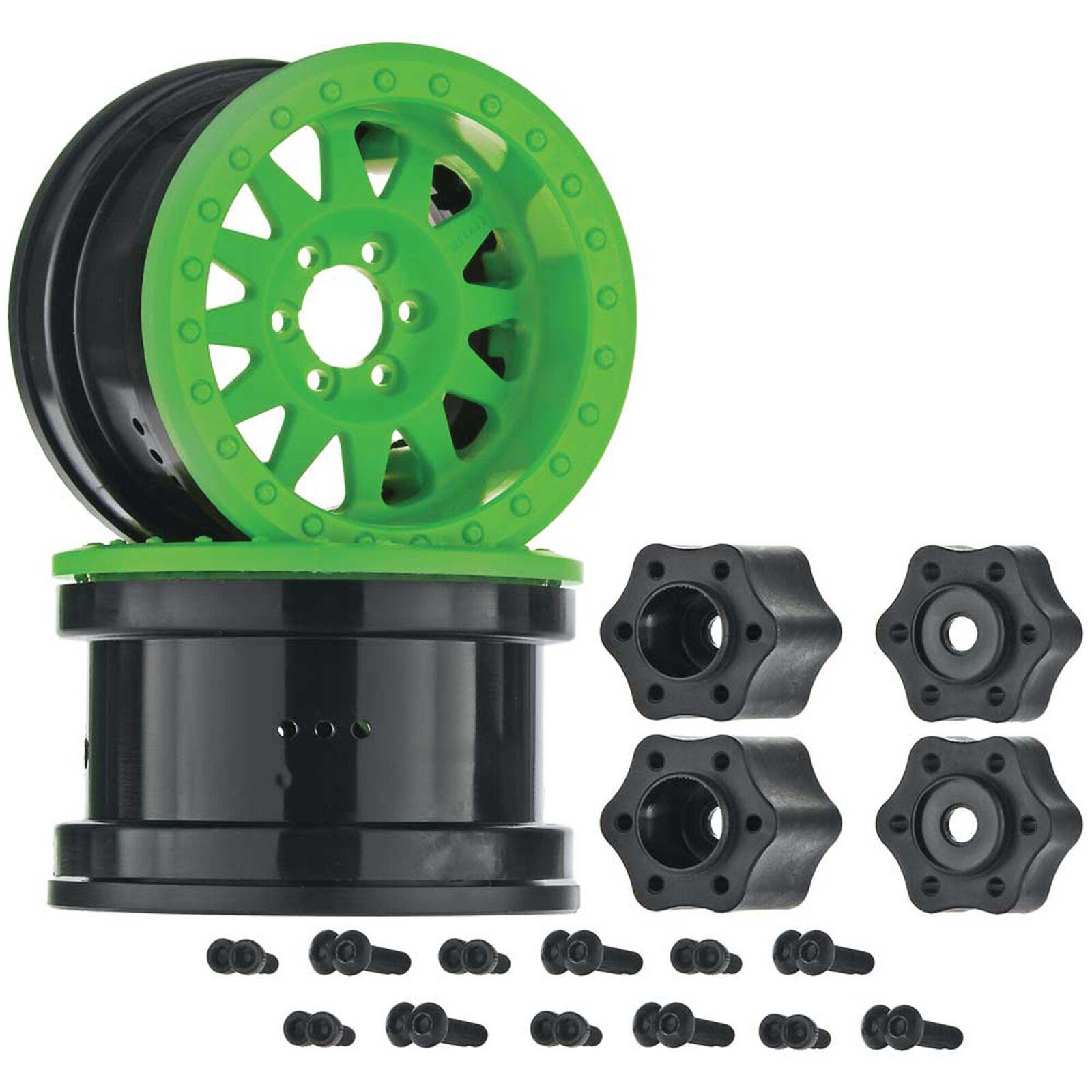 1/10 Method IFD 2.2 Beadlock Wheels, 12mm Hex, Green (2)
