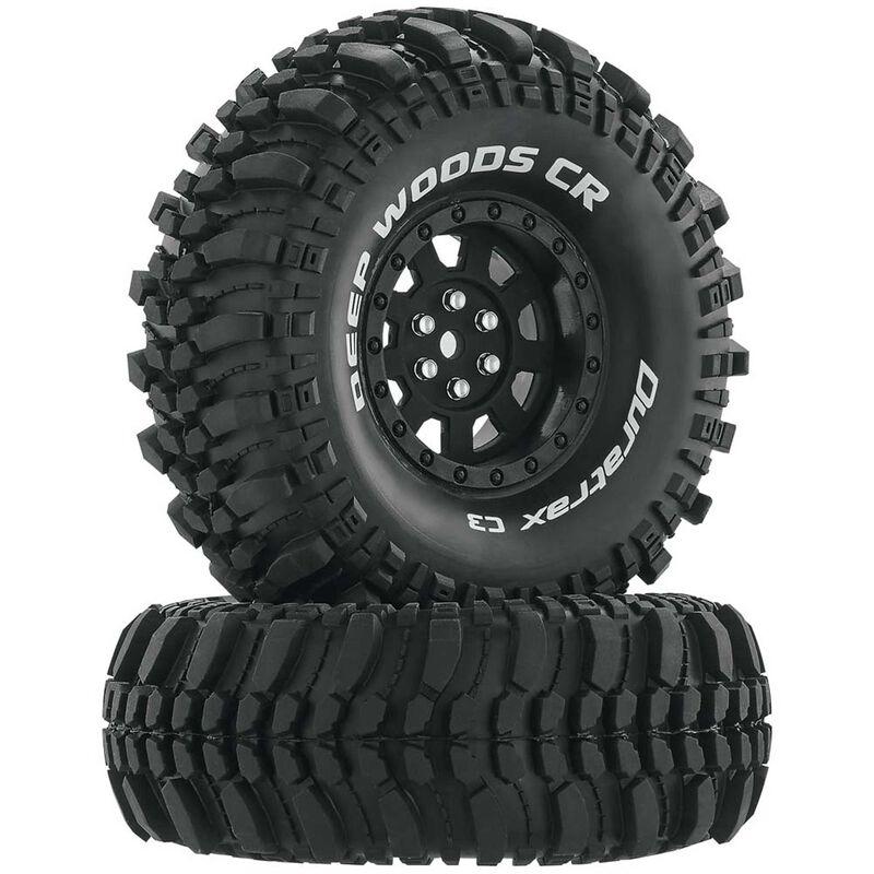 "Deep Woods CR C3 Mounted 1.9"" Crawler Tires, Black (2)"