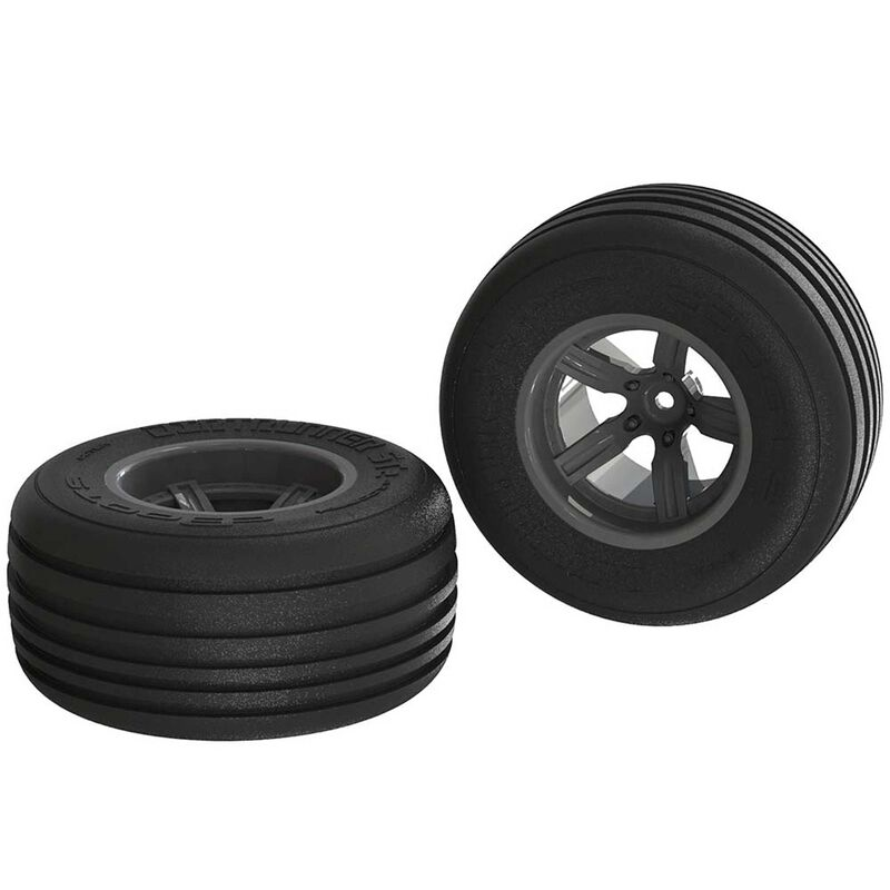 1/10 Dirt Runner ST Front 2.2/3.0 Pre-Mounted Tires, 12mm Hex, Black (2)