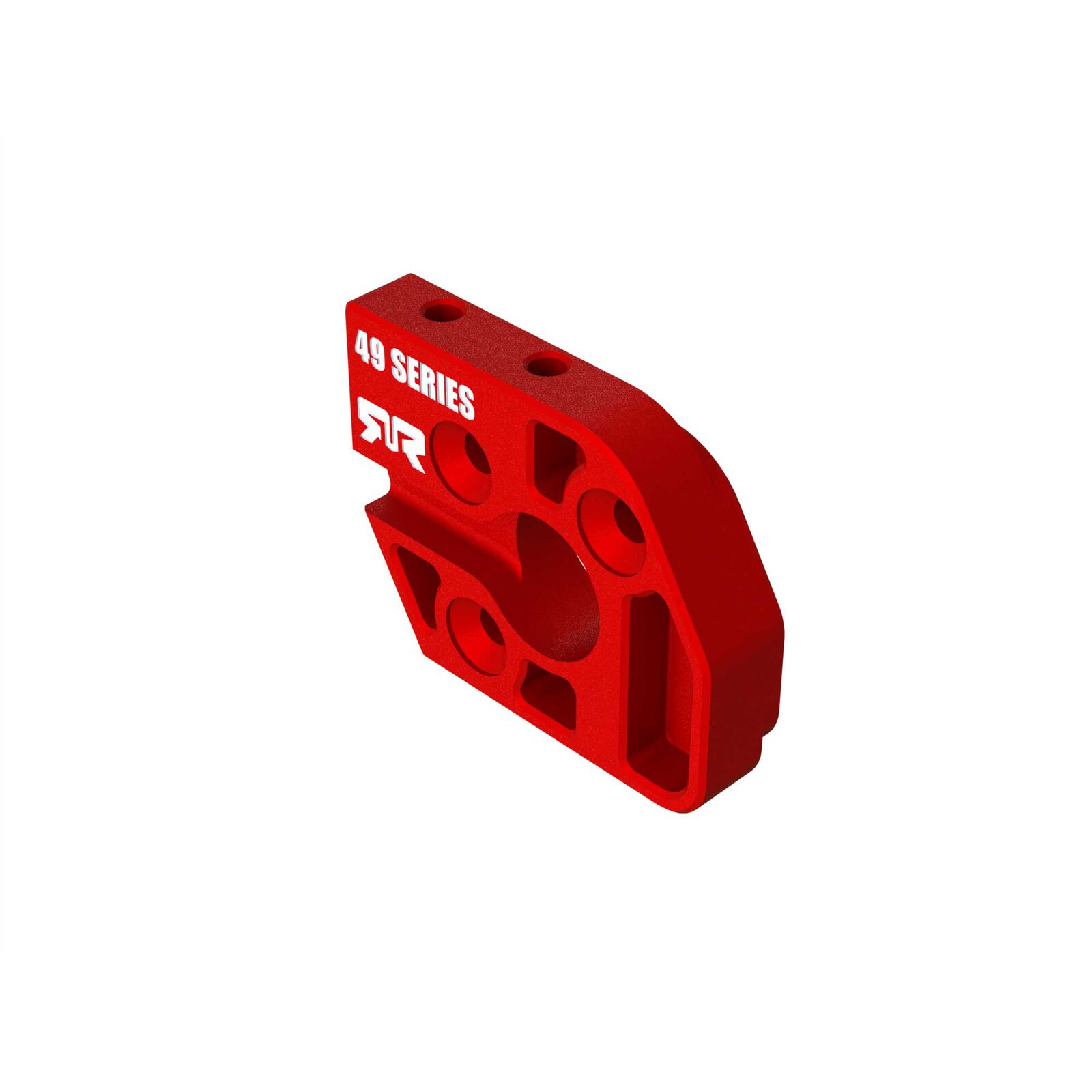 Aluminum Motor Plate 49 Series Red