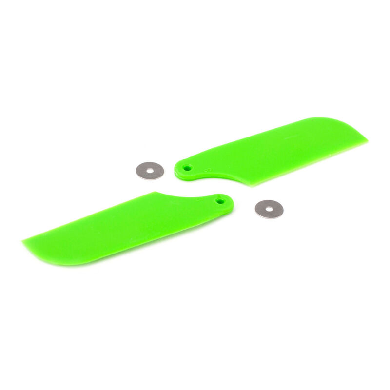 Tail Rotor Blade Set, Green: B450 3D, B400, B450 X