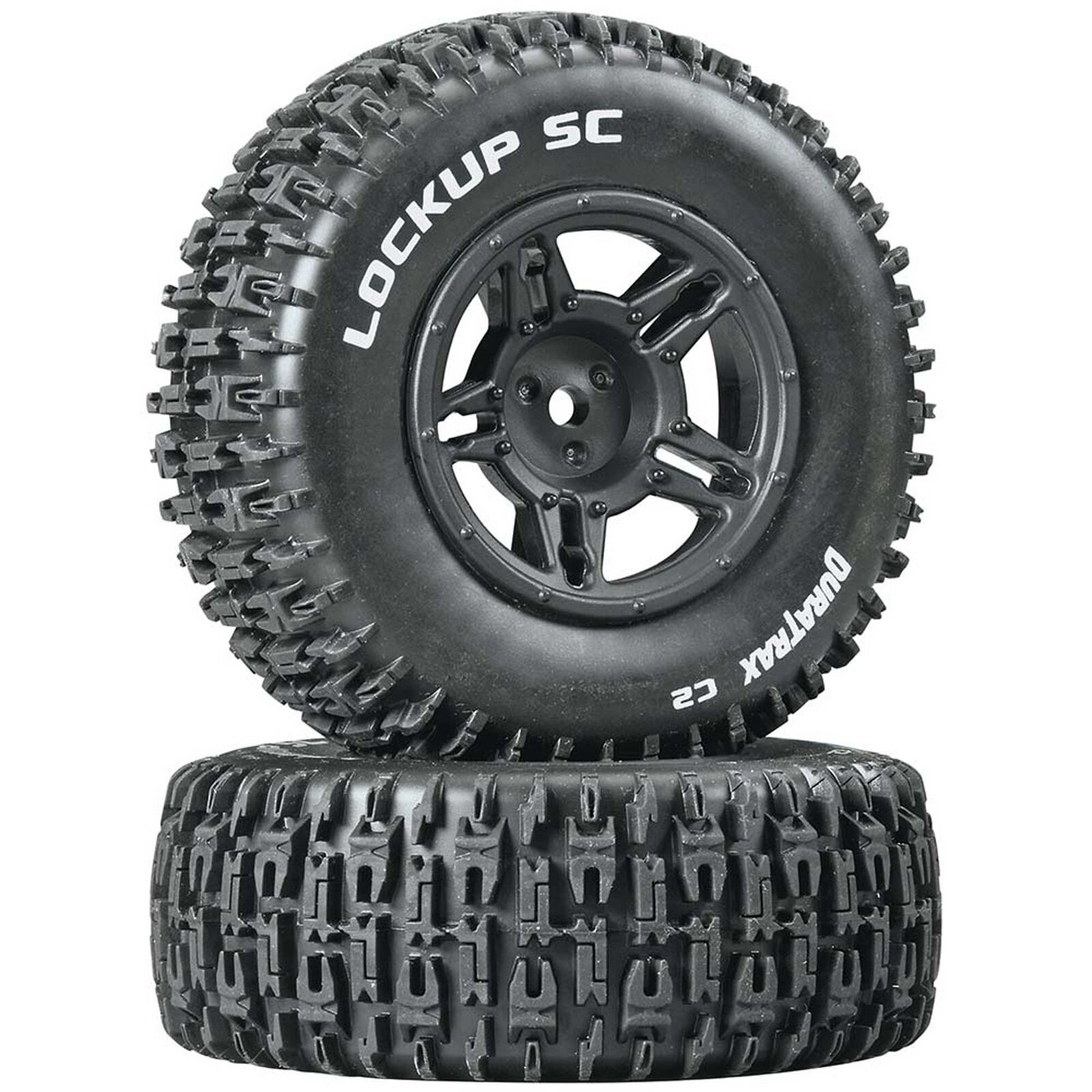 Lockup SC Tire C2 Mounted Black Rear: Slash (2)