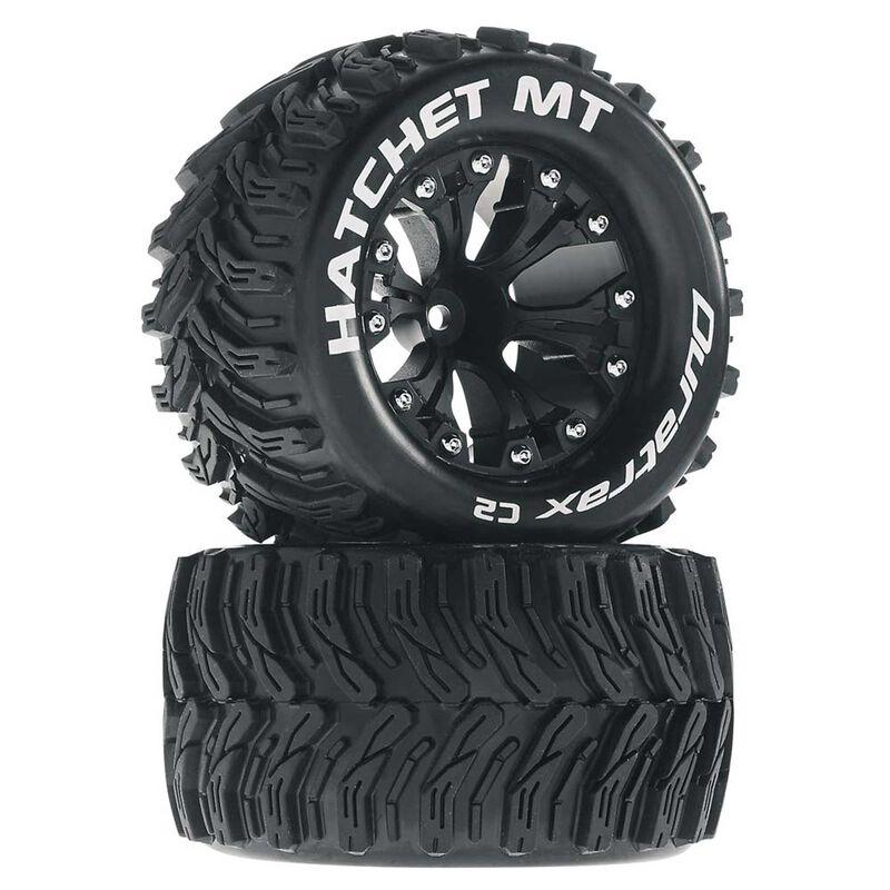 """Hatchet MT 2.8"""" Mounted Offset Tires, Black (2)"""