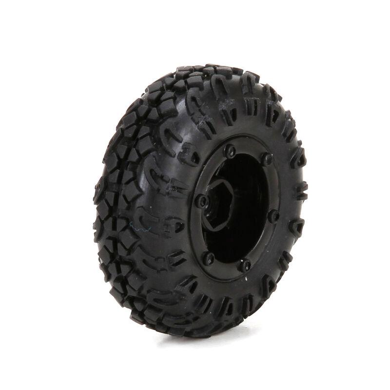 Front/Rear Premount Tire (4):1/24 4WD Temper
