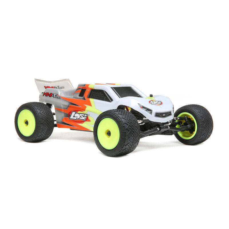 1/18 Mini-T 2.0 2WD Stadium Truck Brushed RTR, Gray/White