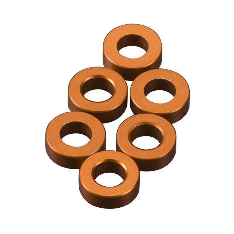 Spacer 2x6mm Orange (6)