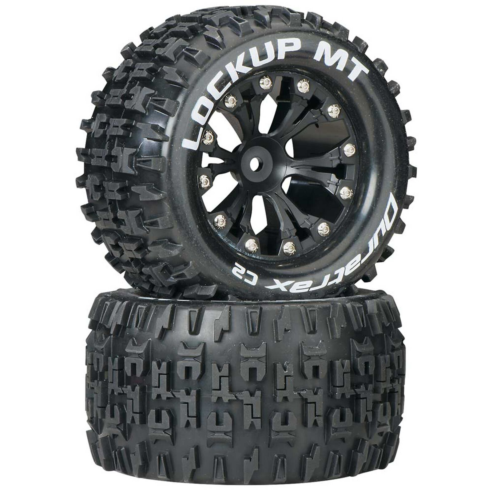 "Lockup MT 2.8"" 2WD Mounted Rear C2 Tires, Black (2)"