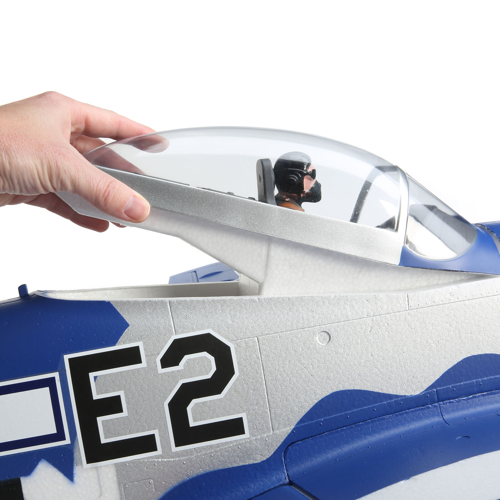 P-51D Mustang 1.5m Smart BNF Basic with AS3X and SAFE Select