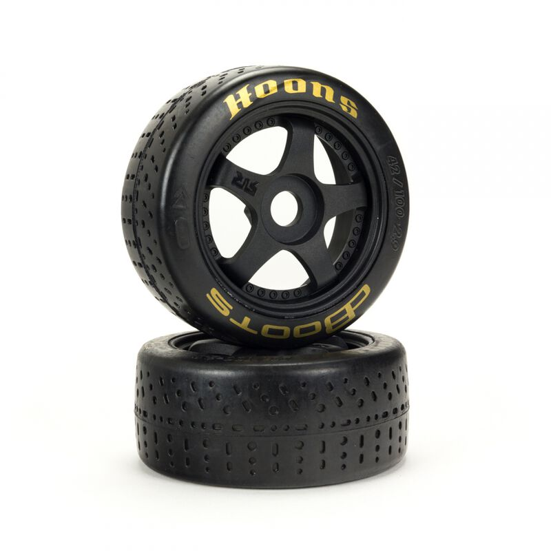 dBoots Hoons 42/100 2.9 Pre-Mounted Belted Tires, Gold, 17mm Hex, 5-Spoke (2)