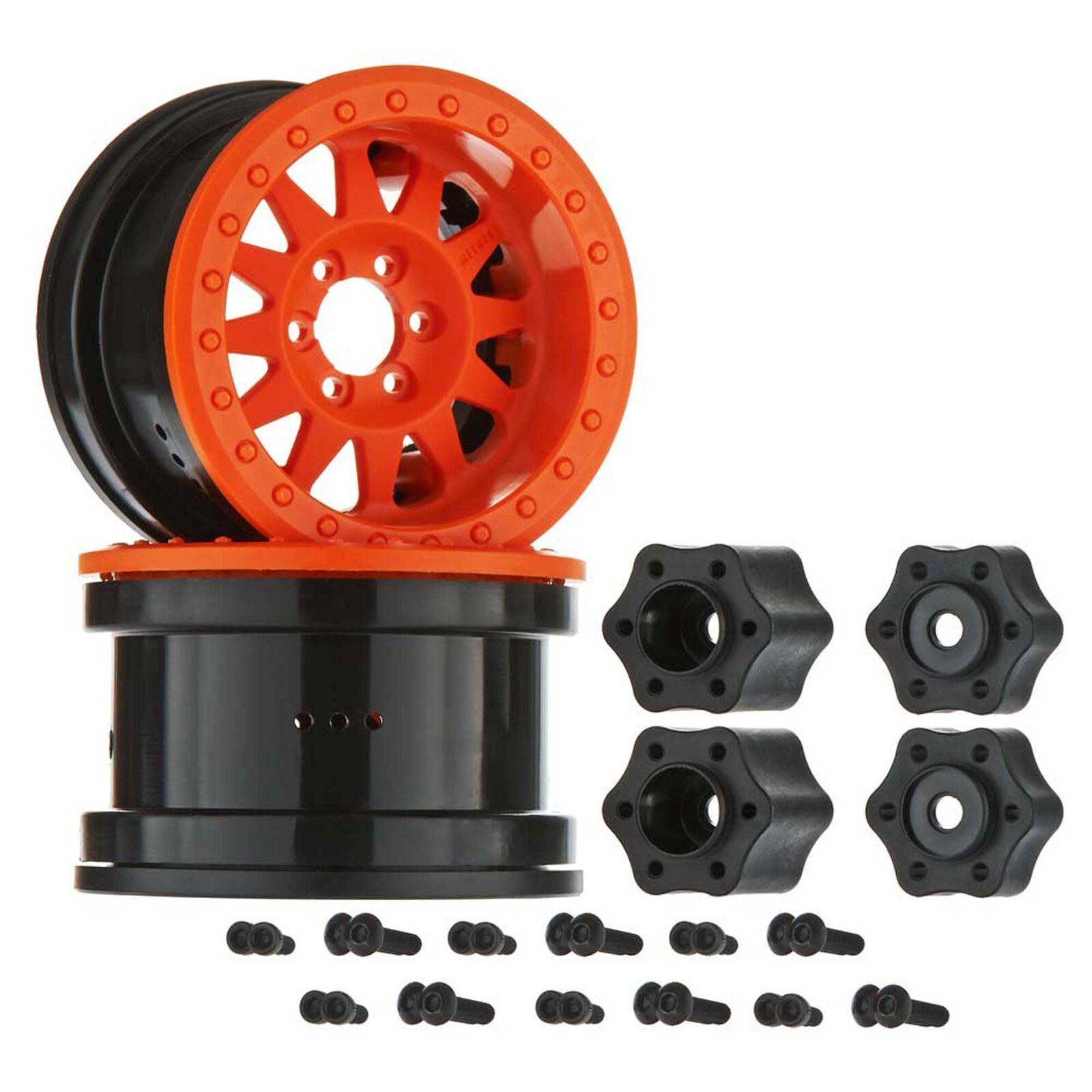 1/10 Method IFD 2.2 Beadlock Wheels, 12mm Hex, Orange (2)