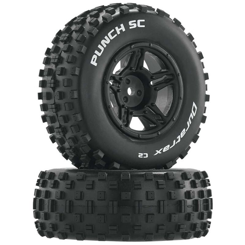 Punch SC C2 Front Rear Mounted Tires: Slash 4x4 Blitz (2)
