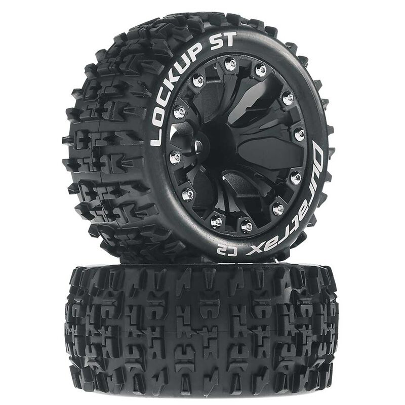 "Lockup ST 2.8"" Mounted Offset Tires, Black (2)"