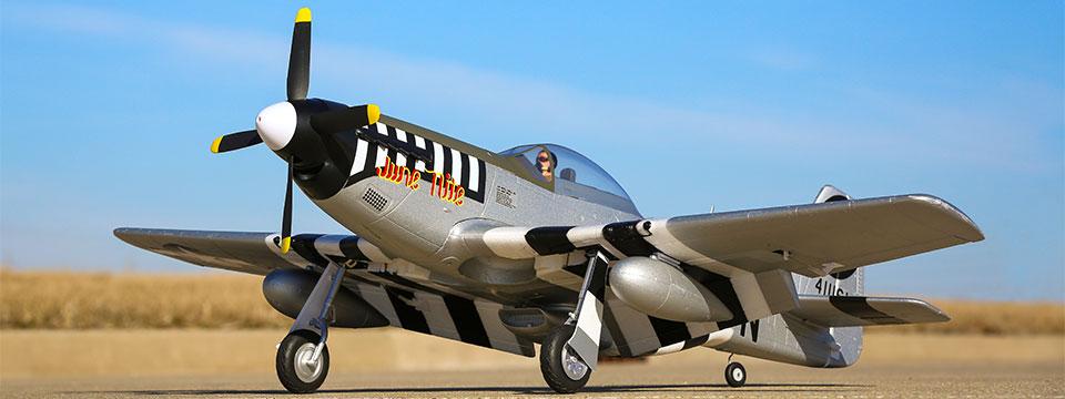 Avion RC de base E-flite® P-51D Mustang 1,2 m BNF