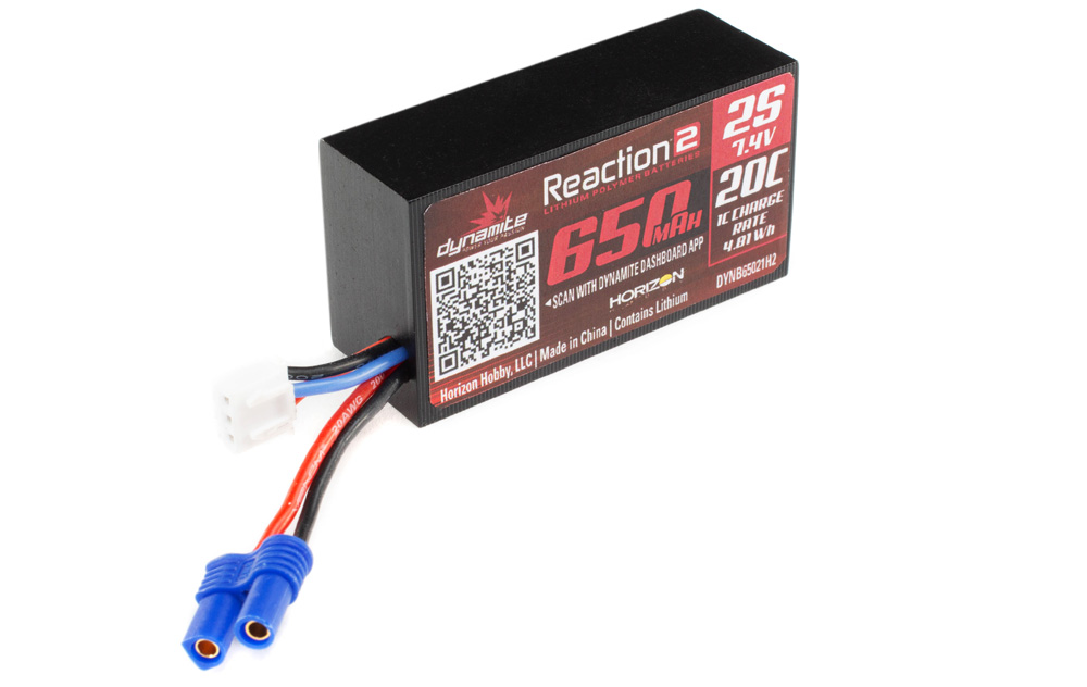 Dynamite Reaction 2.0 7.4V 2S 650mAh 20C Li-Po Battery