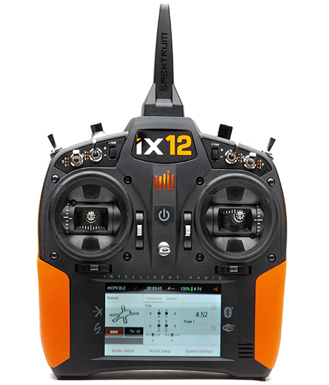 Front of iX12 with orange grips